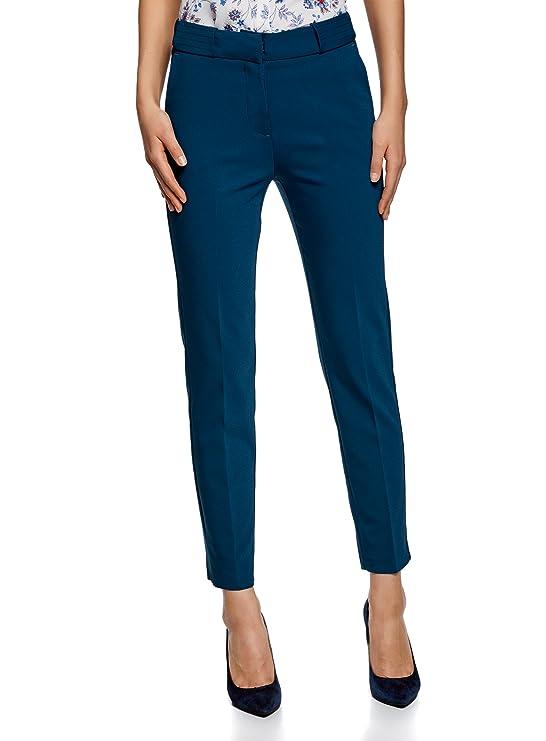 oodji Pantalones ajustados para vestir formal - Pantaloens ajustado para coctel o evento formal.