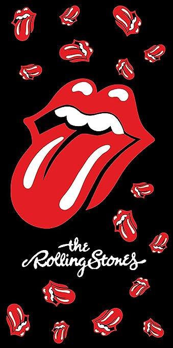 The Rolling Stones Hard-Rock - Toalla de baño (70 x 140 cm), diseño de Mick Jagger Keith Richards Ron Wood Charlie Watts Ian Rock and Roll Paint It, ...