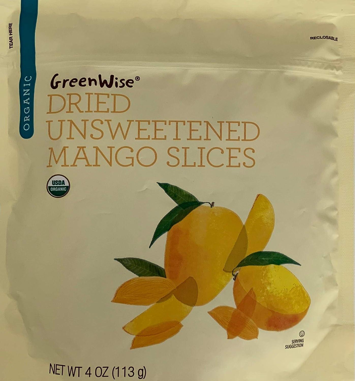 GreenWise Organic Dried Unsweetened Mango Slices, 4 oz.