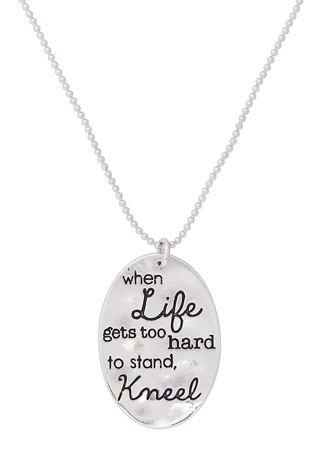 """Alexa's Angels """"Words to Live By"""" Inspirational Stamped Token Necklace"""