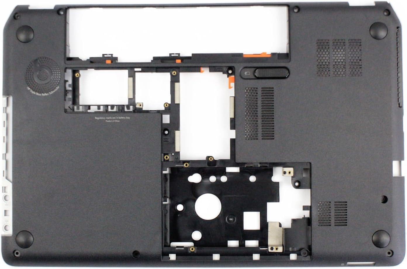 Ivos Replacement Laptop BLACK Bottom Case Midframe Lower Base Cover Enclosure Chassis for HP Pavilion Envy M6 M6-1000 M6-1125dx M6-1035dx M6-1009DX 707886-001 686896-001