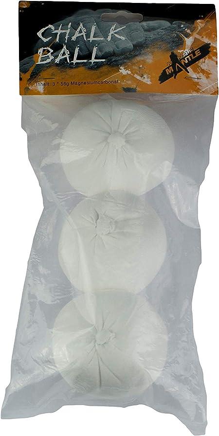 Mantle Chalk Ball 3 Stück - Magnesio de Escalada, Talla 56 g