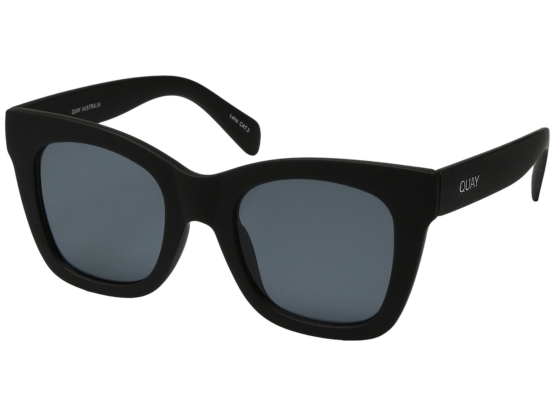 Quay Women's After Hours Sunglasses, Black/Smoke, One Size by Quay