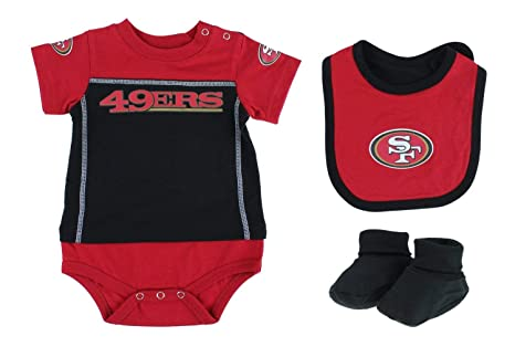 b502f6e8d Image Unavailable. Image not available for. Color  San Francisco 49ers NFL  Baby Boys Newborn Infant  quot LIL  Jersey quot  3 Piece