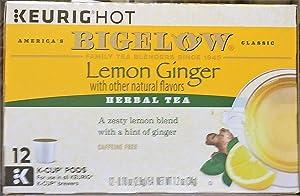 Bigelow Tea Lemon Ginger K Cup, 12 ct