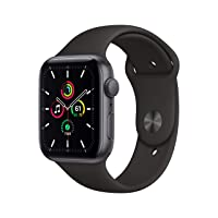 New Apple Watch SE (GPS, 44mm) - Space Gray Aluminum Case with Black Sport Band