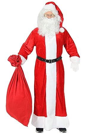 Foxxeo Traje de Papá Noel Premium de 5 Piezas con Abrigo ...