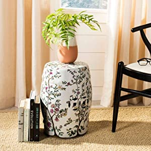 Safavieh Blooming Tree Ceramic Decorative Garden Stool, White
