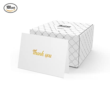 amazon com thank you cards with envelopes 100 thank you notes