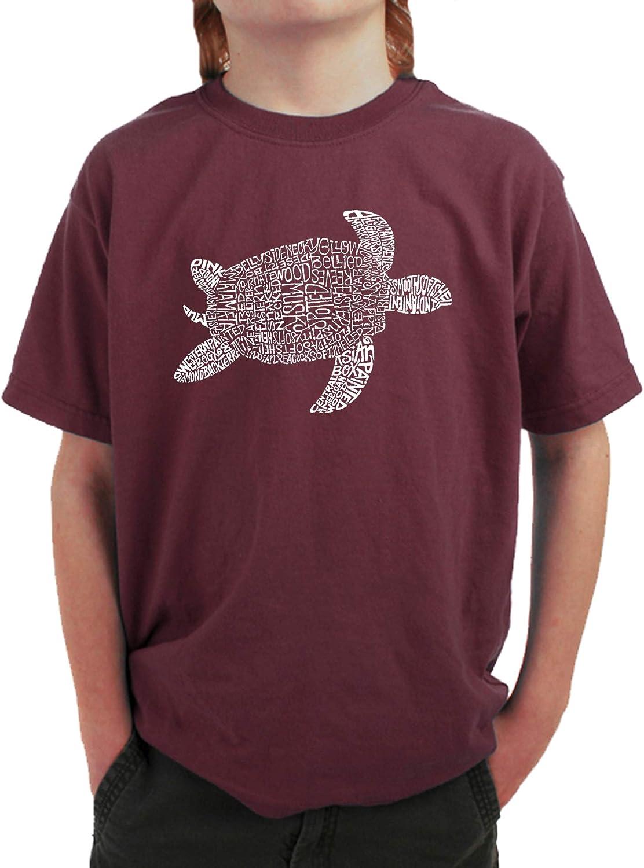 Turtle LA Pop Art Boys Word Art T-Shirt