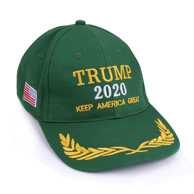0db9dd98d4e2cf Amazon.com: Flantor Donald Trump Baseball Cap, 2020 President Election  Trump Keep America Great Cotton Baseball Cap (Green): Clothing
