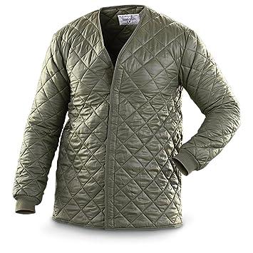 Amazon.com: Belga Militar chamarra Acolchada: Clothing