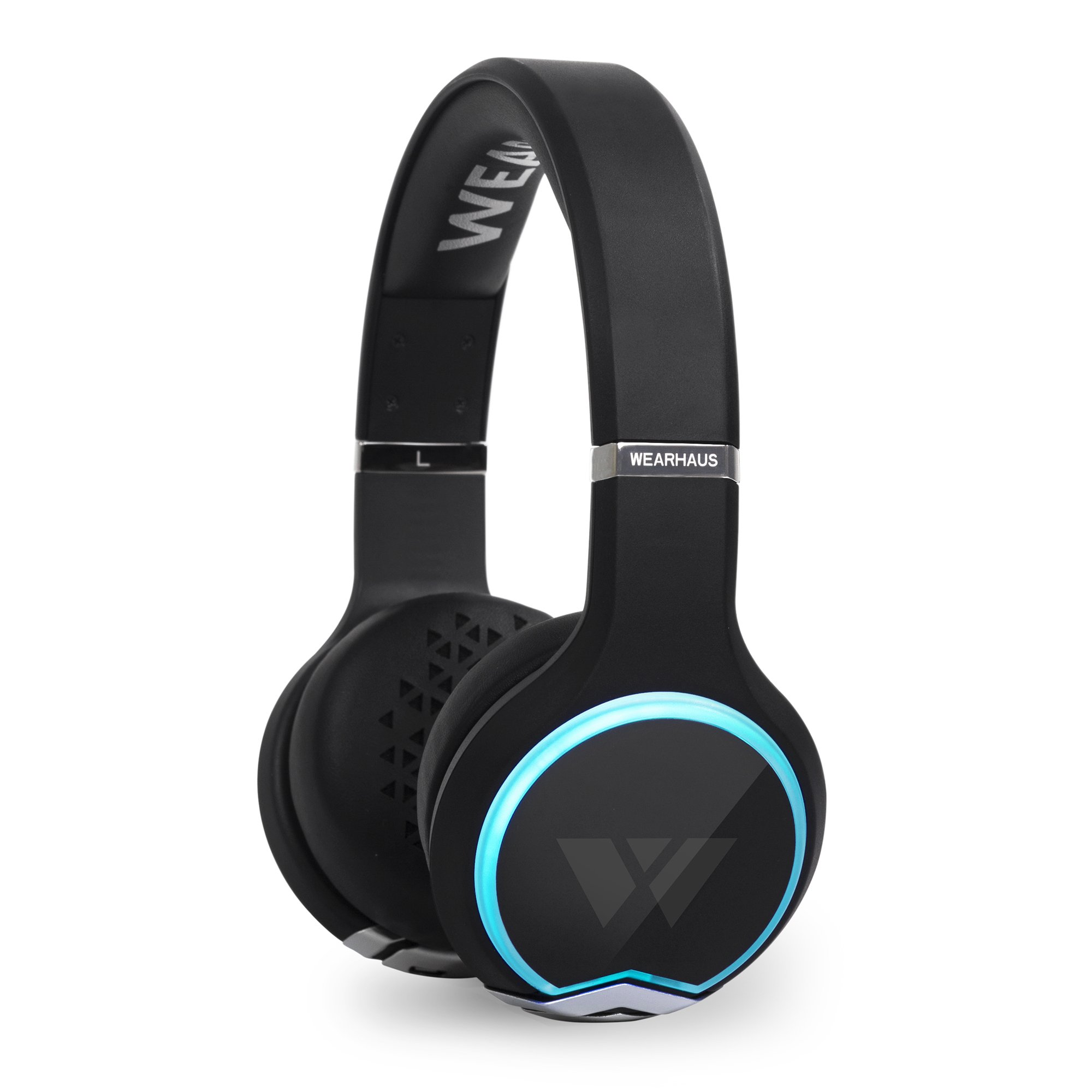 Wearhaus Arc On-Ear Bluetooth Headphones with Wireless Music Sharing, Customizable Color Ring, Touch Controls, Spotify Apple Music Integrated iPhone Android App - Black