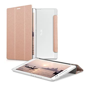 reputable site 23ee5 e7d98 kwmobile Case for Asus ZenPad 8.0 Z380KL/Z380C/Z380M - PU Leather Smart  Cover Protective Tablet Case with Stand - Rose Gold/Transparent