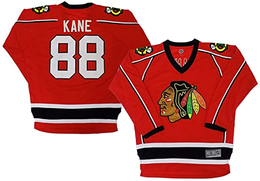 862c33e3cba Patrick Kane Chicago Blackhawks Red Home Youth 2 Stripe Team Apparel Jersey  (X-Small