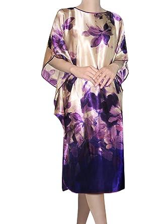 c359869bb4e5 100% Silk Nightgown (Purple Floral