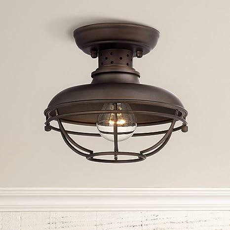 franklin park rustic outdoor ceiling light fixture bronze 8 1 2 rh amazon com lowes outdoor ceiling light fixtures outdoor porch ceiling light fixtures