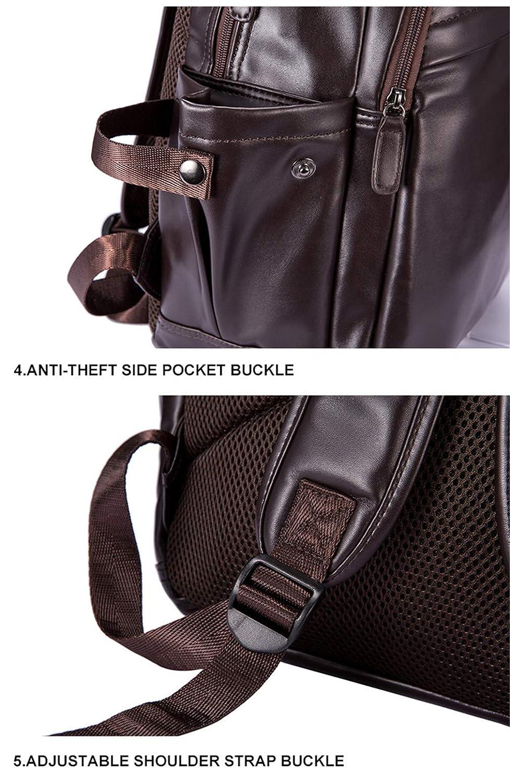 Amazon.com: Men Leather Laptop Backpacks Mens External Usb Charing Port Backpack School Bag: Clothing