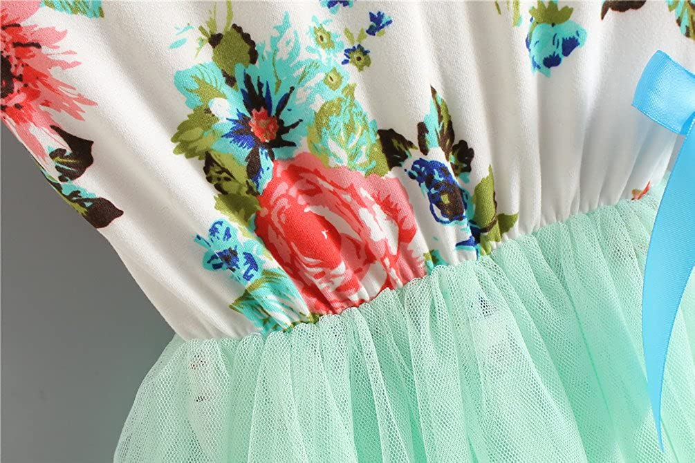 Csbks 1 2 3 4 5 Years Kid Girls Cute Floral Sundress Tulle Tutu Skirt Tank Dress