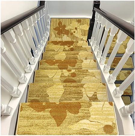 ZENGAI Alfombra de la Escalera Alfombras de peldaños Conjunto de 5 Antideslizante Autoadhesivo Protectores de escaleras Interiores Cinta Antideslizante Lavable Gratis 3 Estilos: Amazon.es: Hogar