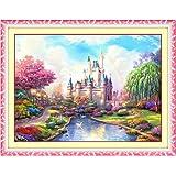 刺繍 キット クロスステッチ 王国 美しい 風景 図案 印刷 62cm × 45cm