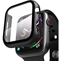 Compatible with Apple Watch Case with Screen Protector, Full Protective Cover Case Hard PC Bumper + 9H Bulletproof Glass…