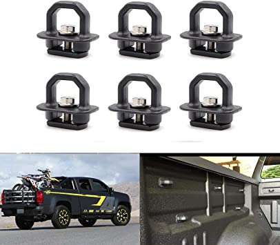 Dantoo 9 x Tie Down Anchors Truck Bed Side Wall Anchors Tie Down Hooks for 2007-2018 Silverdo//Sierra 2015-2018 Colorado//Canyon
