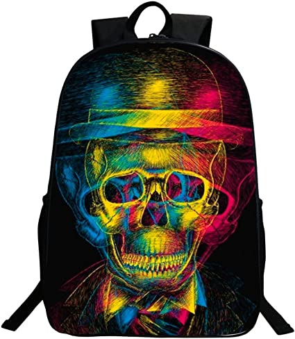 Cool Skull Backpack Daypack College Girls Boys School Bag Rucksack Satchel Packs
