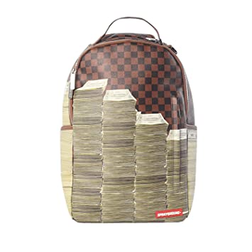 5019d8aa8e8861 Amazon.com | Sprayground Unisex-Adult Checker Money Stacks Backpack One |  Backpacks