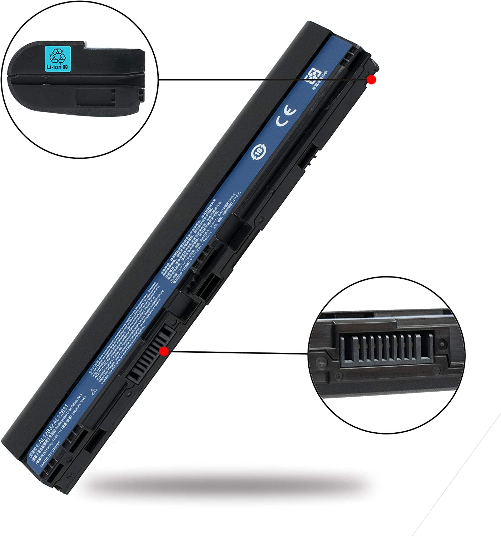 Aluo AL12B32 14.8V37WH/2500mAh Replacement Laptop Battery for Acer Chromebook C7 C710 TravelMate B113 B113M B113-M Aspire V5-121 V5-131 V5-17 Aspire One 725 756 Series