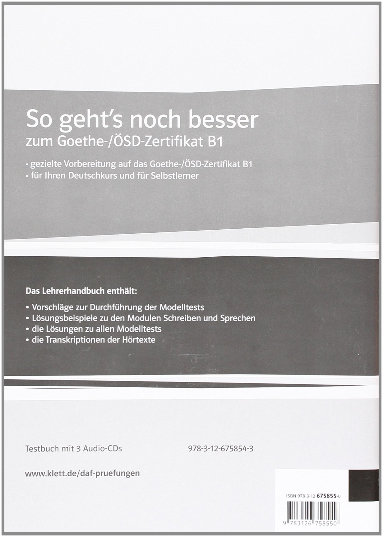 Buy So Gehts Noch Besser Zum Goethe Osd Zertifikat B1