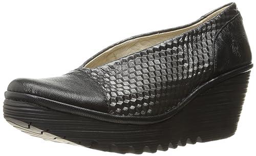 d55210d716c16 Fly London Women's Yena685fly Wedge Pump, Black/Graphite Mousse/Borgogna,  41 EU/10-10.5 M US: Amazon.ca: Shoes & Handbags