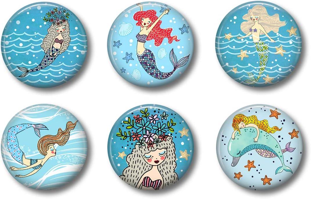Mermaid Magnets: Cute Locker Magnets for Boys and Girls (Mermaid)