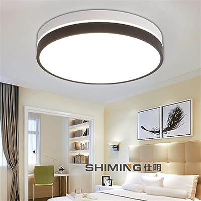 ANGEELEE Ronde créative LED lumière Plafond Lumière Chambre Simple ...