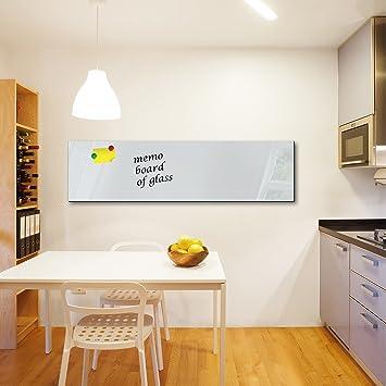Pizarra magnética de cristal tablón Memo Board magnético ...
