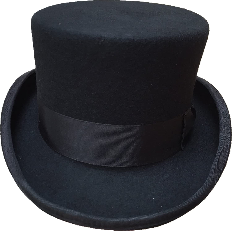 New Mens Gents Wool Felt Navy Blue Top Hat Formal Events Wedding Hat S M L XL