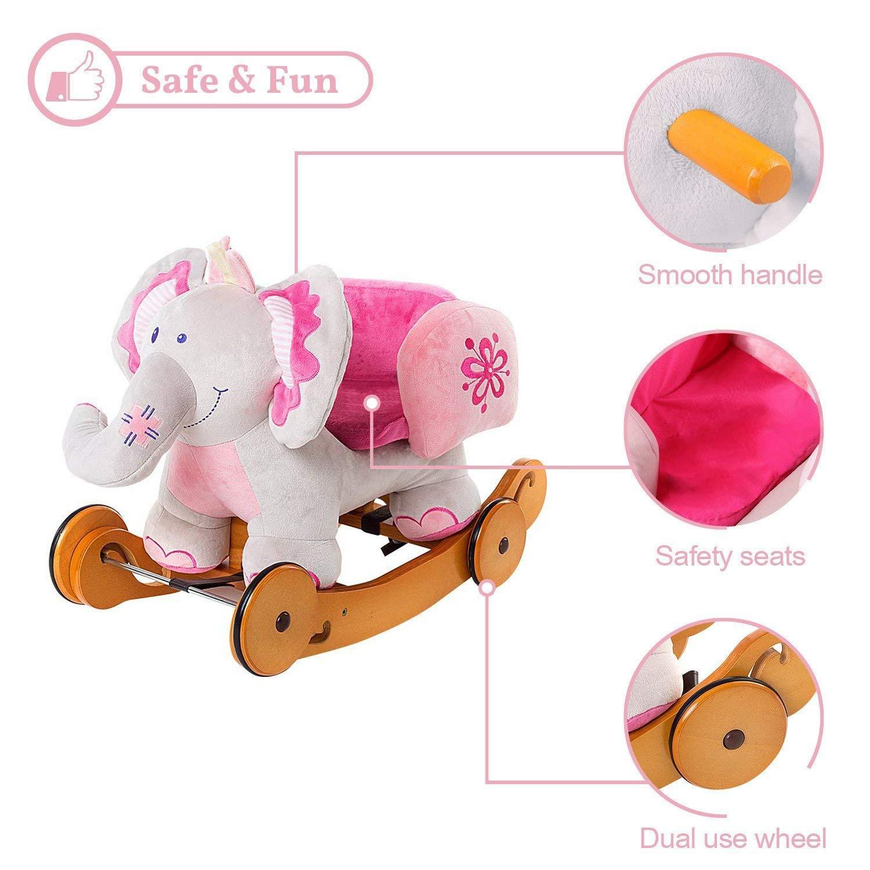 Labebe niño mecedora caballo de juguete Animal de peluche, mecedora ...