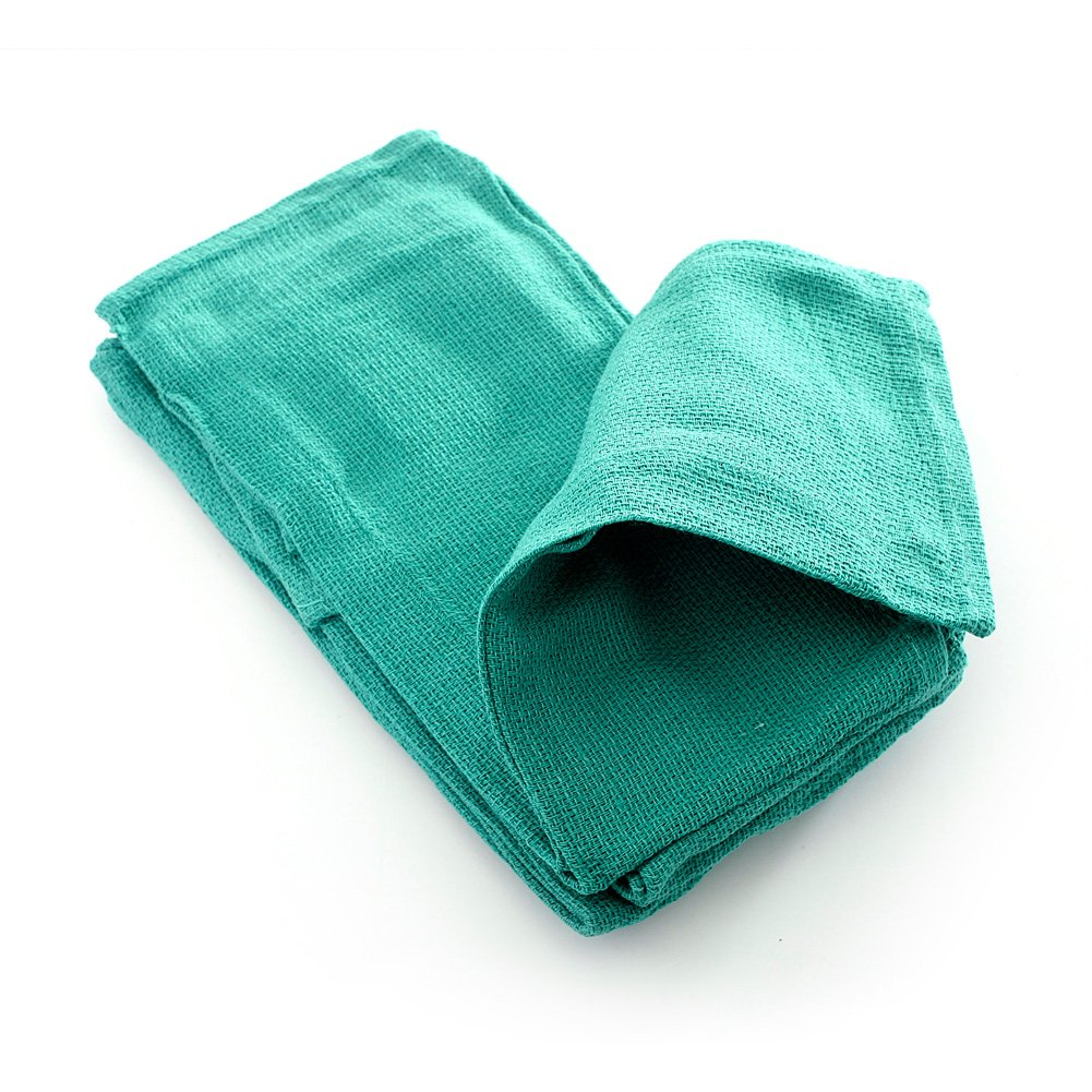 MediChoice O.R. Towel, X-Ray Detectable, 16 Inch x 24 Inch, Green (Case of 100)