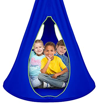 Wondrous Sorbus Kids Nest Swing Chair Nook Hanging Seat Hammock For Indoor Outdoor Use Great For Children All Accessories Included 40 Inch Nest Blue Camellatalisay Diy Chair Ideas Camellatalisaycom