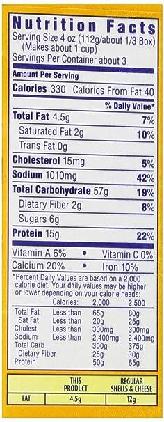 recipe: velveeta mac and cheese box nutrition [8]