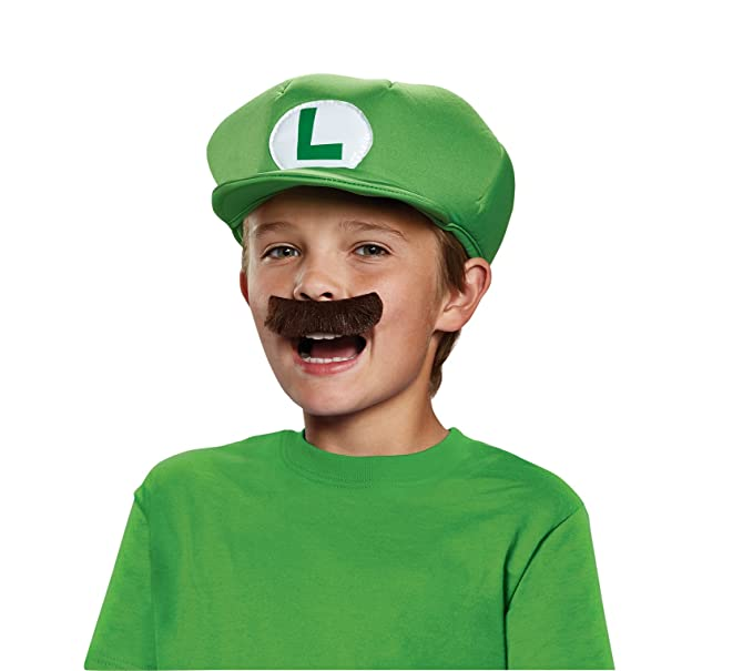 ad16c20de00 Amazon.com  Nintendo Super Mario Brothers Luigi Child Hat and Mustache