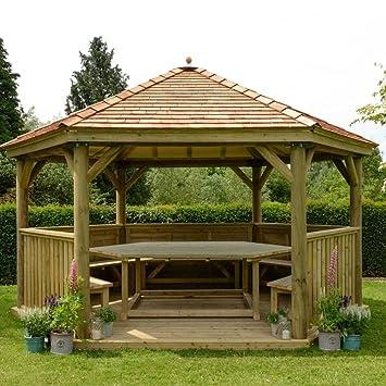 Favorit Amazon.de: 4.0 m Holz sechseckiger Garten Pavillon mit New England AO99