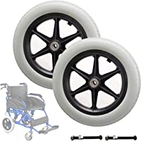 JTGPFC 12 inch achterwiel voor handmatige rolstoelen - 12 mm kogellagers, vervangende wielen voor handmatige rolstoelen…