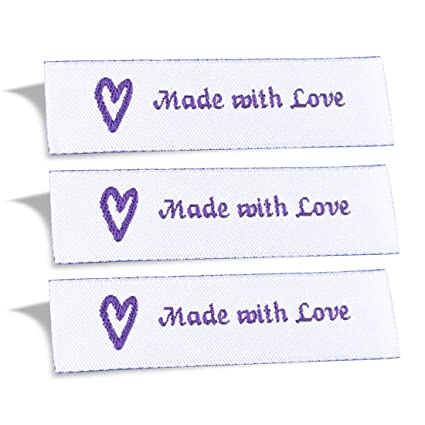 232af2d8aa48 Wunderlabel Made with Love Crafting Craft Art Fashion Woven Ribbon Ribbons  Tag for Clothing Sewing Sew on Clothes Garment Fabric Material Embroidered  ...