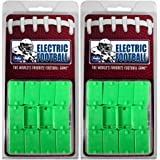Tudor Games PL2SSFRB-2PK Electric Football Pro Line 2-Clip Strong Rookie Straight Front Bases, 24, Green (Pack of 24)