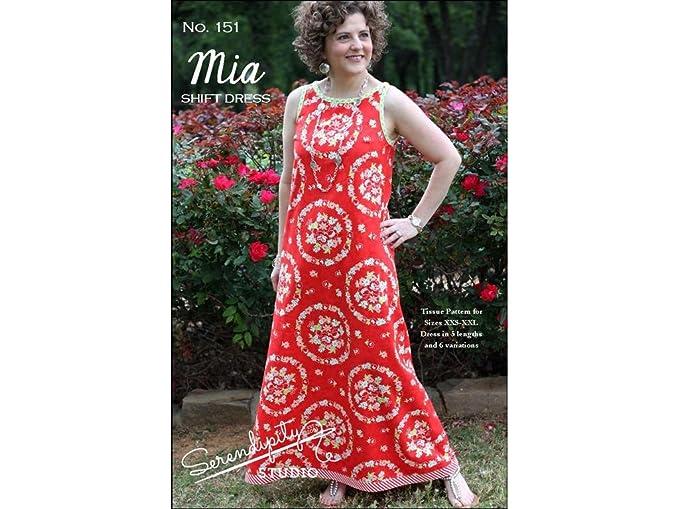Serendipity Studio sdg151 Mia Shift Kleid Muster: Amazon.de: Küche ...
