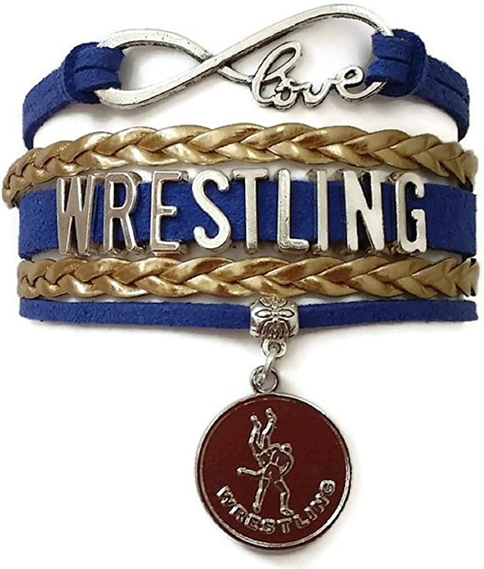 Sportybella Wrestling Charm Infinity Bracelet Moms and Coaches Wrestling Jewelry for Wrestlers,Teams