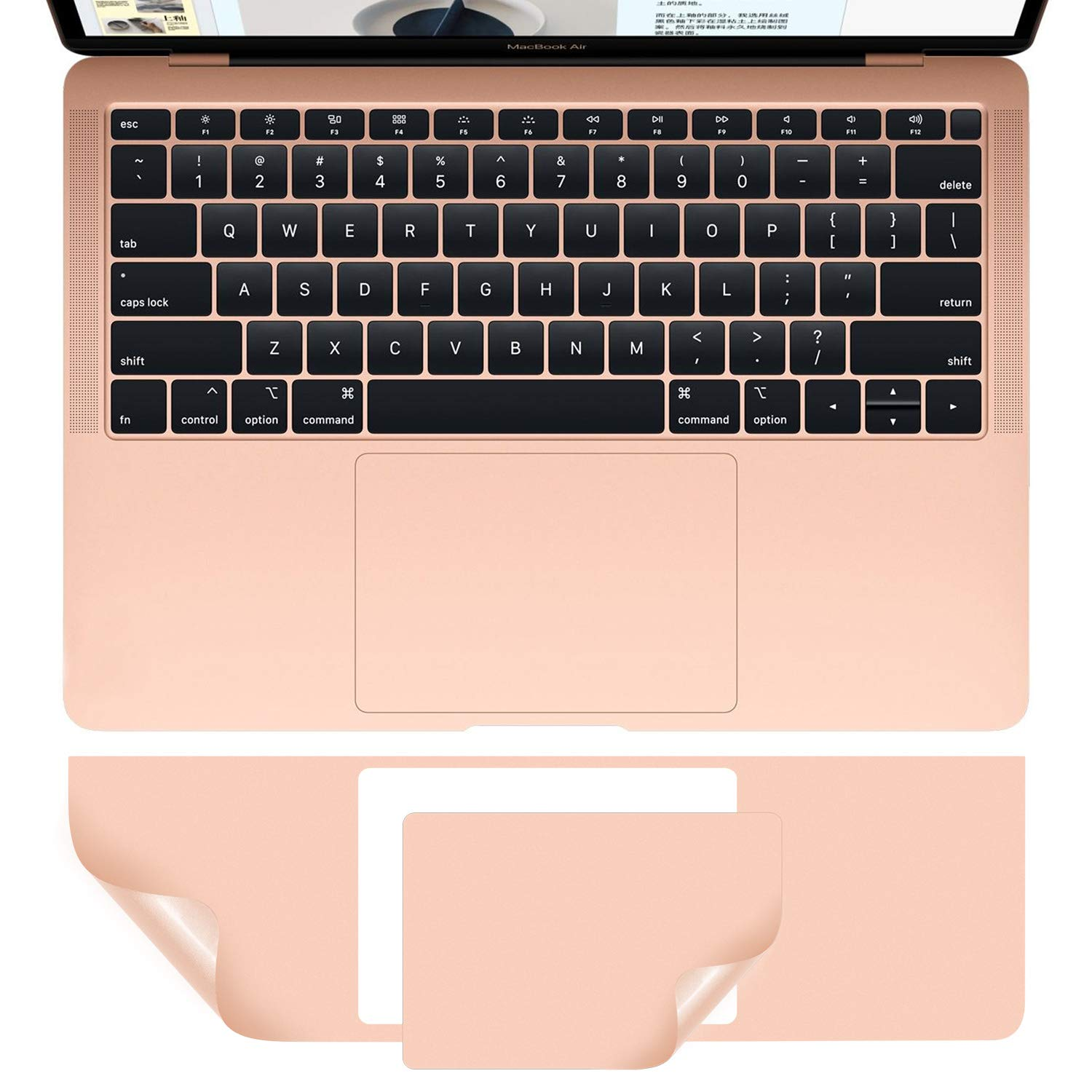 CasBuy MacBook Air A2337 A2179 A1932 Palm Rest Skin, PalmRest Cover with Trackpad Protector for MacBook Air 13-inch 2020 2019 2018 Protector Vinyl Decal Sticker, Gold