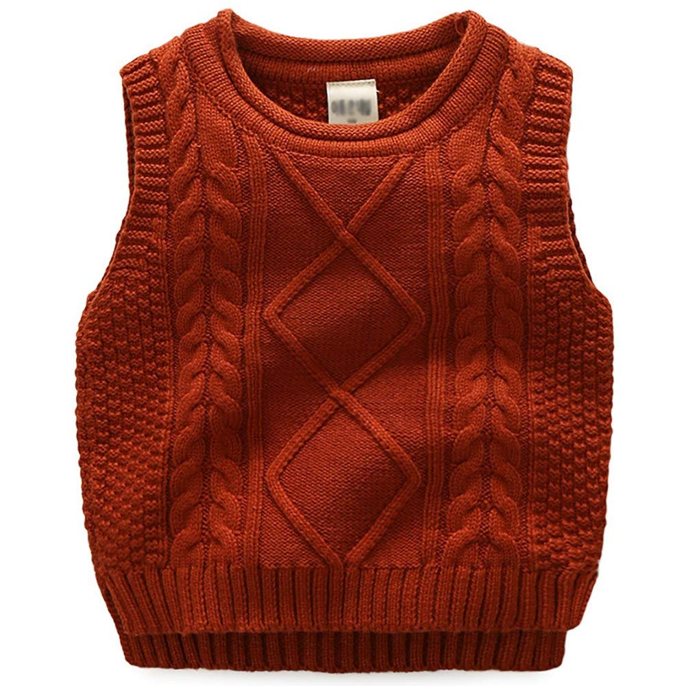 Happy childhood Kids Boys Solid Color Basic Sweater Vest Sleeveless Thermal Warm Cotton Pullover Knitted Waistcoat HC-MY-60