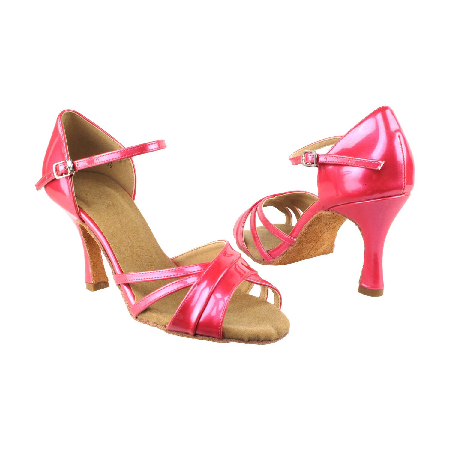 Very Fine Dance Shoes 6030, Pearl Fuchsia, 2.5'' Heel, Size 7 1/2